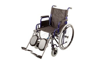 Кресло-коляска инв. серия 1600 (1618С0304SPU) пневматическая со спицами (кожзаменитель)