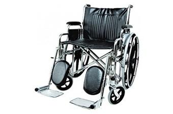 Кресло-коляска инв. серия 1600 (1618С0304S) цельнолитая со спицами (кожзаменитель)
