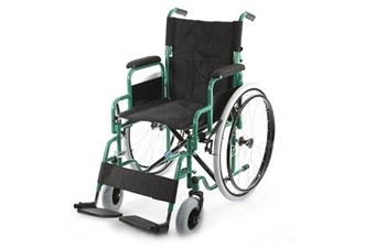 Кресло-коляска инв. серия 1600 (1618С0102SPU) цельнолитая со спицами (нейлон)