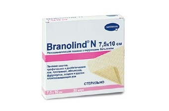 Повязка мазевая Branolind стерил. 7,5х10см