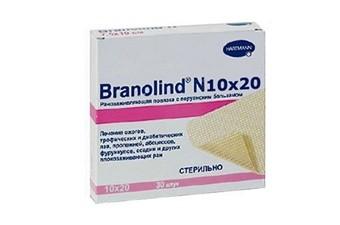 Повязка мазевая Branolind N  стерил. 10х20см